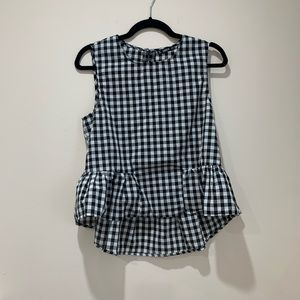 SHEIN Gingham Top Size M
